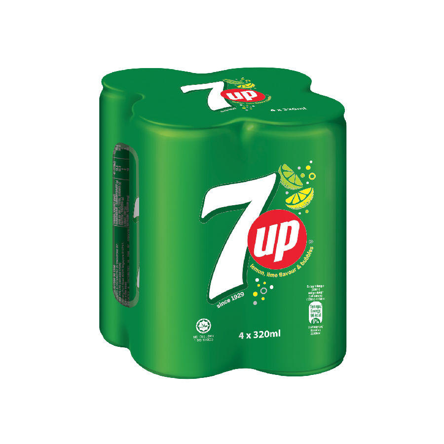 7UP Can 320ml 4s